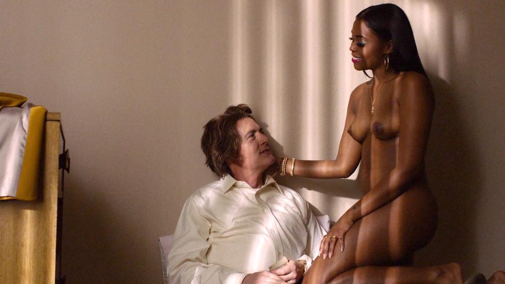 Ellen b gets naked on her white armchair - 1 part 7