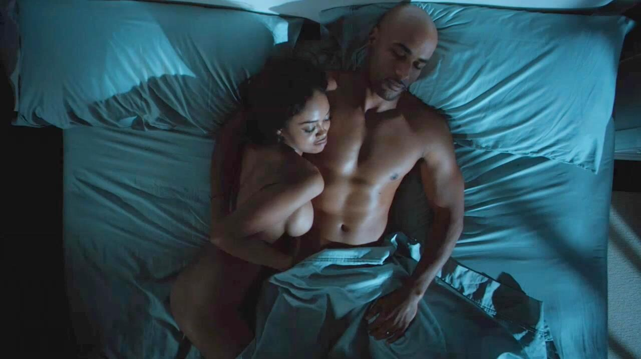 sharon leal poses nude