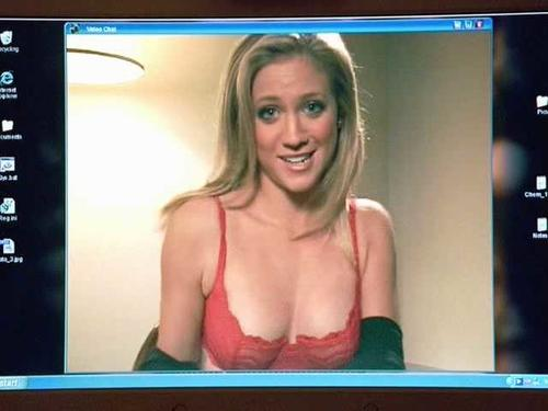 Really. brittany snow red lingerie me