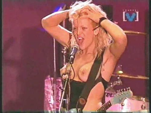 Courtney Love Topless Concert